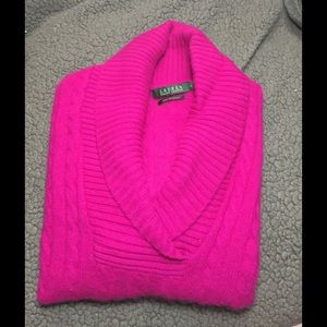 Lauren Ralph Lauren shawl collar Cashmere Sweater